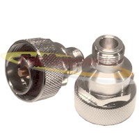 7/16 DIN Male Plug to N Female Jack Adapter Nickel Plated Brass 50ohm