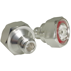 N Female to 7/16 DIN Male Adapter Silver Plating