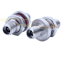 3.5mm Female Bulkhead Jack to Jack Adapter Passivated Plated Stainless Steel 50ohm