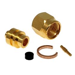 2.9mm Solder Male Plug .141 Semi-Rigid Cable Gold