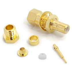 SMB Bulkhead Male Clamp for RG178, RG196 Connector Gold Plated
