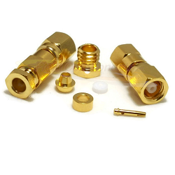 Gold Plated SMC Female Clamp Connector RG174 RG187 RG188 RG316 LMR100A