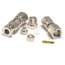SMC Female RG178, RG196 Clamp Connector Nickel Plated
