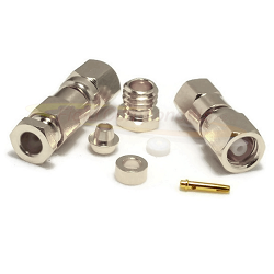 Nickel Plated SMC Female RG174D RG188D RG316D Clamp Connector