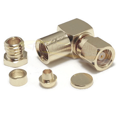 SMC Right Angle Female RG55 RG142 RG223 Connector Nickel