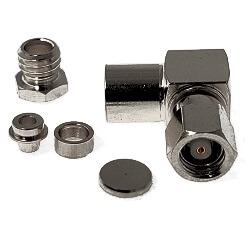 SMC Right Angle Female Plug for RG174, RG179, RG187, RG188, RG316, LMR100A Connectors