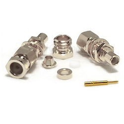 SMC Bulkhead Male RG58 RG141 Connector Nickel Plated Clamp
