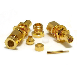 SMC Bulkhead Male Jack for RG174D, RG188D, RG316D Connectors