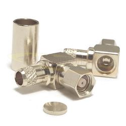 SMC Right Angle Female  RG55 RG142 RG223 RG400 Connector Nickel