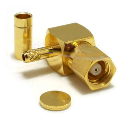 SMC Right Angle Female RG178 RG196 Connector Gold Plated