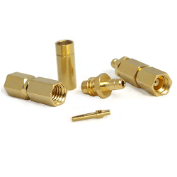 SSMC Female Plug for RG174, RG188, RG316, LMR100A Gold Plated