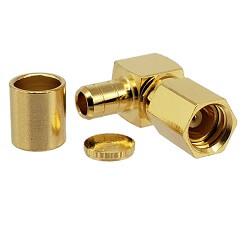 SSMC Right Angle Female Plug for RG174, RG179, RG187, RG188, RG316, LMR100A Connectors
