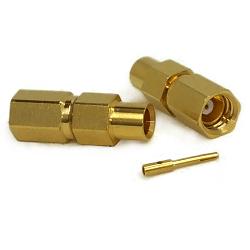 SSMC Female Plug for RG405, .085 Semi-Rigid Cable Connectors