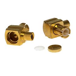 MCX Right Angle Male Plug for .047 Semi-Rigid Cable Connectors
