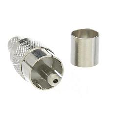 RCA MALE CRIMP, Nickel,Nickel,Dielectric POLYPROPYLENE; FOR RG-59/U;RG59, RG62, 210, M17/29-RG59, M