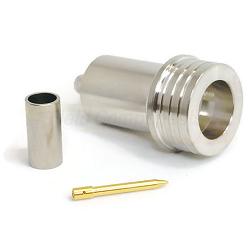 QN Straight Male Crimp Plug for LMR200 Crimp 50ohm DC-6.0GHz Brass White Bronze