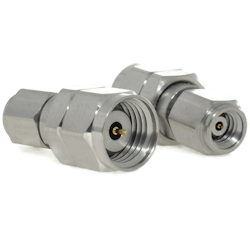 1.0mm Male Plug to 1.85mm Male Plug Adapter Passivated Stainless Steel