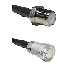 F Female Connector On LMR-240UF UltraFlex To 7/16 Din Female Connector Cable Assembly