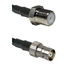 F Female Connector On LMR-240UF UltraFlex To C Female Connector Cable Assembly