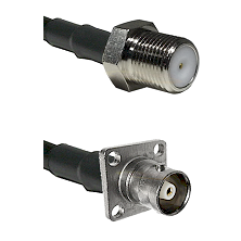 F Female Connector On LMR-240UF UltraFlex To C 4 Hole Female Connector Cable Assembly