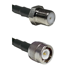 F Female Connector On LMR-240UF UltraFlex To C Male Connector Cable Assembly