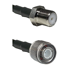 F Female Connector On LMR-240UF UltraFlex To HN Male Connector Cable Assembly