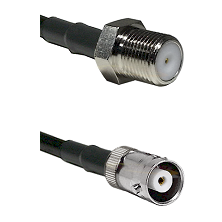 F Female Connector On LMR-240UF UltraFlex To MHV Female Connector Cable Assembly