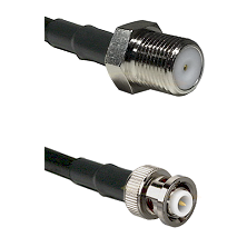 F Female Connector On LMR-240UF UltraFlex To MHV Male Connector Cable Assembly