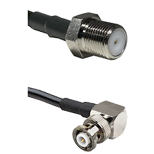 F Female Connector On LMR-240UF UltraFlex To MHV Right Angle Male Connector Cable Assembly
