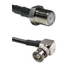 F Female Connector On LMR-240UF UltraFlex To BNC Reverse Polarity Right Angle Male Connector Coaxial