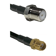 F Female Connector On LMR-240UF UltraFlex To SMA Reverse Polarity Female Connector Coaxial Cable Ass