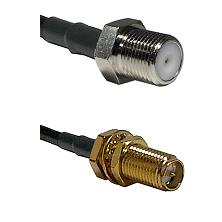 F Female Connector On LMR-240UF UltraFlex To SMA Reverse Polarity Female Bulkhead Connector Coaxial
