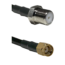 F Female Connector On LMR-240UF UltraFlex To SMA Reverse Polarity Male Connector Coaxial Cable Assem