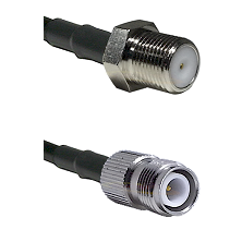 F Female Connector On LMR-240UF UltraFlex To TNC Reverse Polarity Female Connector Coaxial Cable Ass