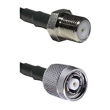 F Female Connector On LMR-240UF UltraFlex To TNC Reverse Polarity Male Connector Coaxial Cable Assem