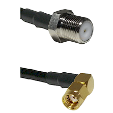 F Female Connector On LMR-240UF UltraFlex To SMA Reverse Polarity Right Angle Male Connector Coaxial