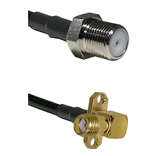 F Female Connector On LMR-240UF UltraFlex To SMA 2 Hole Right Angle Female Connector Coaxial Cable A