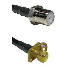 F Female Connector On LMR-240UF UltraFlex To SMA 4 Hole Right Angle Female Connector Coaxial Cable A