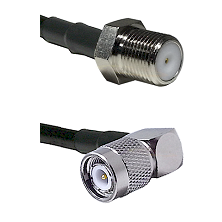 F Female Connector On LMR-240UF UltraFlex To TNC Right Angle Male Connector Cable Assembly