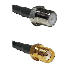 F Female Connector On LMR-240UF UltraFlex To SMA Reverse Thread Female Connector Coaxial Cable Assem