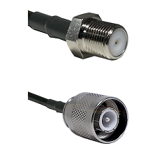 F Female Connector On LMR-240UF UltraFlex To SC Male Connector Cable Assembly