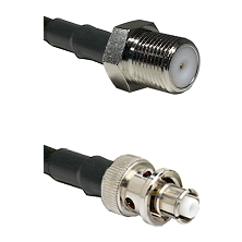F Female Connector On LMR-240UF UltraFlex To SHV Plug Connector Cable Assembly