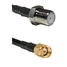 F Female Connector On LMR-240UF UltraFlex To SMA Male Connector Cable Assembly