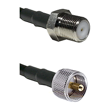 F Female Connector On LMR-240UF UltraFlex To UHF Male Connector Cable Assembly