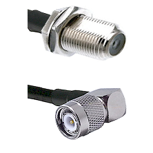 F Female Bulkhead Connector On LMR-240UF UltraFlex To TNC Right Angle Male Connector Coaxial Cable A