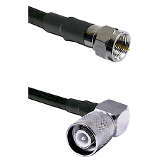 F Male Connector On LMR-240UF UltraFlex To SC Right Angle Male Connector Cable Assembly