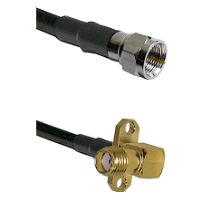 F Male Connector On LMR-240UF UltraFlex To SMA 2 Hole Right Angle Female Connector Coaxial Cable Ass