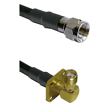 F Male Connector On LMR-240UF UltraFlex To SMA 4 Hole Right Angle Female Connector Coaxial Cable Ass