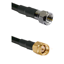 F Male Connector On LMR-240UF UltraFlex To SMA Reverse Thread Male Connector Cable Assembly