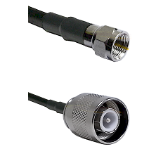 F Male Connector On LMR-240UF UltraFlex To SC Male Connector Cable Assembly